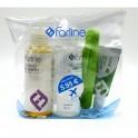Farline Kit viaje gel + champú + pasta + cepillo