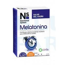 Ns Melatonina 30 comprimidos masticables Sabor naranja