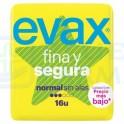 Evax Compresa Fina y Segura Normal sin Alas 16 unidades