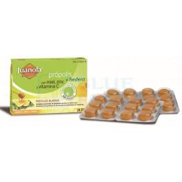 Juanola Propolis + Hedera Sabor Miel y Limon 24 pastillas blandas