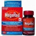 MegaRed Omega-3 con Aceite de Krill 60 cápsulas