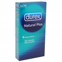 Preservativos Durex Natural Plus Easy On 6uds