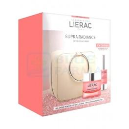 Lierac Cofre Supra Radiance gel-crema 50ml + Sérum contorno de ojos 15ml + Neceser
