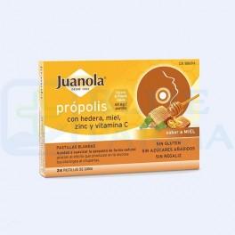 Pastillas Juanola Própolis con miel, zinc y vitamina C. Sabor a limón y miel