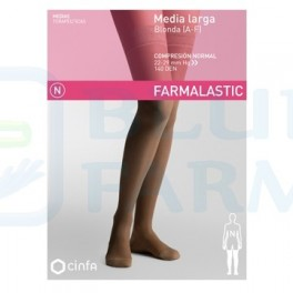 Media Larga con Blonda Farmalastic Compresión Normal Talla M