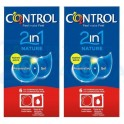Pack Control Nature 2in1 6 preservativos + gel lubricante x 2