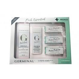 Pack Germinal Essential Hidraplus FPS30 crema 40ml + Essential contorno de ojos 15ml + 3 ampollas